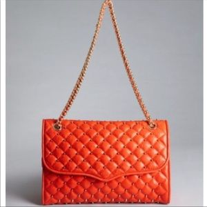 Rebecca Minkoff Med Quilted Affair Persimmon Bag